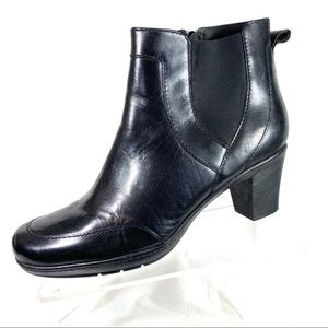 Clarks Bendables Ankle Boots Black Leather Size 11